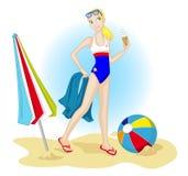 Klaar voor het strand Royalty-vrije Stock Foto's