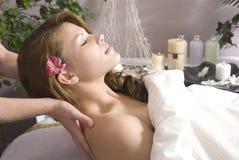 Klaar voor massage Royalty-vrije Stock Afbeeldingen