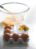 Klaar voor omelet stock fotografie