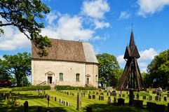 Klackeberga-Kirche im smaland Schweden Lizenzfreies Stockfoto