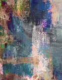 Kladdigt abstrakt begrepp borstad målad Grungebakgrundstextil Arkivfoton