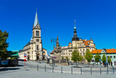 Kladno - Czech republic. Cathedral in town Kladno - Czech republic royalty free stock photography