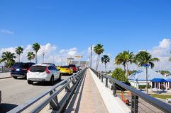Klaffbro upp, södra Florida arkivbild