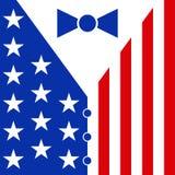 Klage in den Farben der amerikanischen Flagge Stockfotos