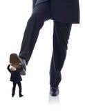 Klage, die auf Angestellten tritt Stockfotos