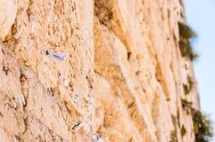 Klagemauer ist eins der bedeutenden alten jüdischen Relikte E stockfotografie