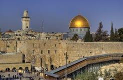 Klagemauer in Jerusalem stockfoto