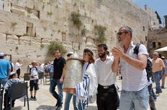 Klagemauer in Jerusalem Israel stockfoto