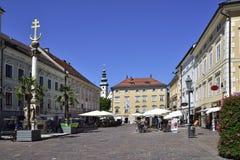 Klagenfurt, Österreich im Sommer stockfotos