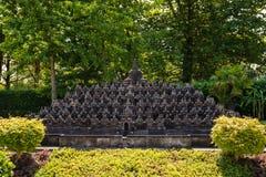 KLAGENFURT, CARINTHIA, OOSTENRIJK - AUGUSTUS 07, 2018: Park Minimundus am Worthersee Modellen van de beroemdste historische gebou stock afbeeldingen