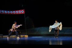 Klagomålet av den överföringsJiangxi operan en besman Royaltyfri Fotografi