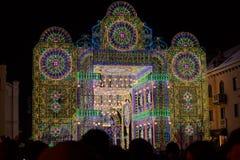 Klaipeda освещает фестиваль искусств, стробы установку столетия, Литву Стоковое Изображение