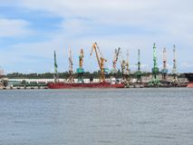 Klaipeda city stock photography