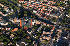 Klaipeda city centre from above Royalty Free Stock Photo