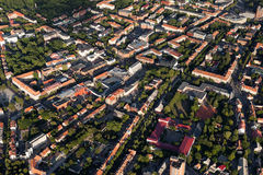 Klaipeda city centre from above Royalty Free Stock Photography