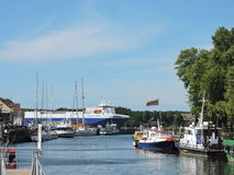 Klaipeda city harbour, Lithuania Royalty Free Stock Image