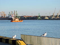 Klaipeda city harbour, Lithuania Stock Image