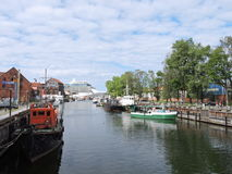 Klaipeda city Marina, Lithuania Royalty Free Stock Photos