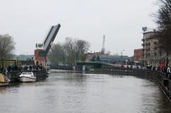 Klaipeda city symbol barquentine Meridianas Royalty Free Stock Image