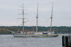 Klaipeda city symbol barquentine Meridianas Stock Photos