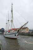 Klaipeda city symbol barquentine Meridianas Stock Images