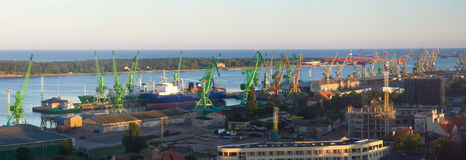 klaipeda de port Image libre de droits