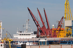 Klaipeda-Hafen Stockfoto