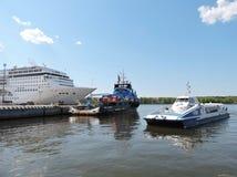 Klaipeda harbour, Lithuania Stock Photography