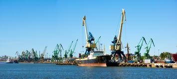 Klaipeda industrial port Royalty Free Stock Images