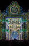 Klaipeda light art festival, Centenary Gates installation,  Lithuania Royalty Free Stock Image