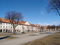Klaipeda, Litauen Eine Ansicht des Quadrats an spspring Tag Stockbild