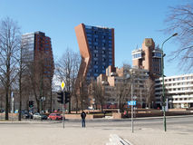 Klaipeda, Litauen Zwei hohe Gebäude Klaipeda-Hotel Stockfotografie