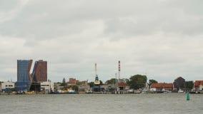 KLAIPEDA LITHUANIA-AUGUST, 5, 2017 Time-schackningsperiod av hamnen i Klaip da stock video
