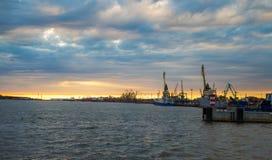Klaipeda Big port stock image