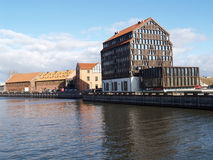 Klaipeda, Lithuania. Dana River Embankment Stock Image