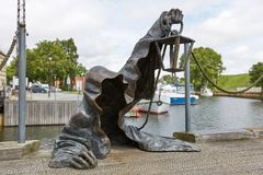 The Black Ghost bronzed sculpture designed by Svajunas Jurkus a Stock Image