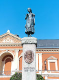 Klaipeda, Lithuania. Monument Fountain Simon Dach. Stock Photo