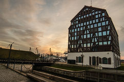 Klaipeda (Lithuania) in the sunset Royalty Free Stock Images