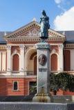 KLAIPEDA, LITHUANIE - 22 SEPTEMBRE 2018 : La statue d'Annchen von Tharau ou d'une muse de po?te prussien c?l?bre Simon Dach image stock