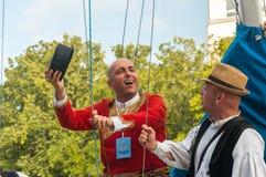 Klaipeda Lituânia - 20 de julho de 2018 fest internacional do folklor imagens de stock royalty free