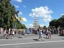 Klaipeda miasteczko, Lithuania Zdjęcia Royalty Free