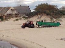 Klaipeda plaża Obrazy Royalty Free