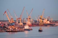 Klaipeda port Royaltyfri Fotografi