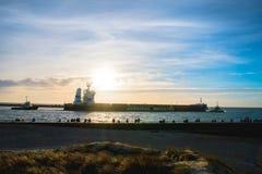 Klaipeda port fotografering för bildbyråer