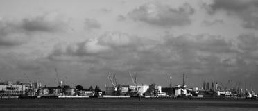 Klaipeda port Litauen Fotografering för Bildbyråer