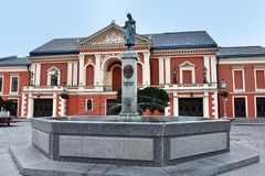 Free Klaipeda Simon Dach Memorial And Theatre Royalty Free Stock Photography - 124663497