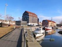 Klaipeda-Stadt Jachthafen lizenzfreie stockfotos