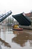 Klaipeda Stadt-Symbol barquentine Meridianas stockfotos