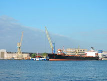 Klaipeda-Stadthafen, Litauen Stockbild