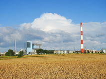 Klaipeda town industrial region Stock Image